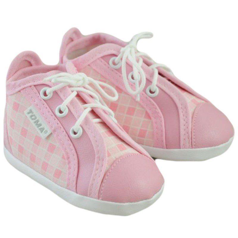 Pantofiori bebelusi fetite roz cu siret
