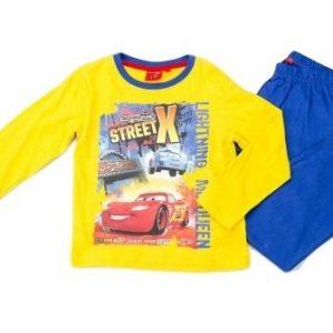 Pijamale copii Cars galben albastru, marimi 3,6 ani