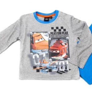 Pijamale baieti Cars gri, marimi 3-8 ani