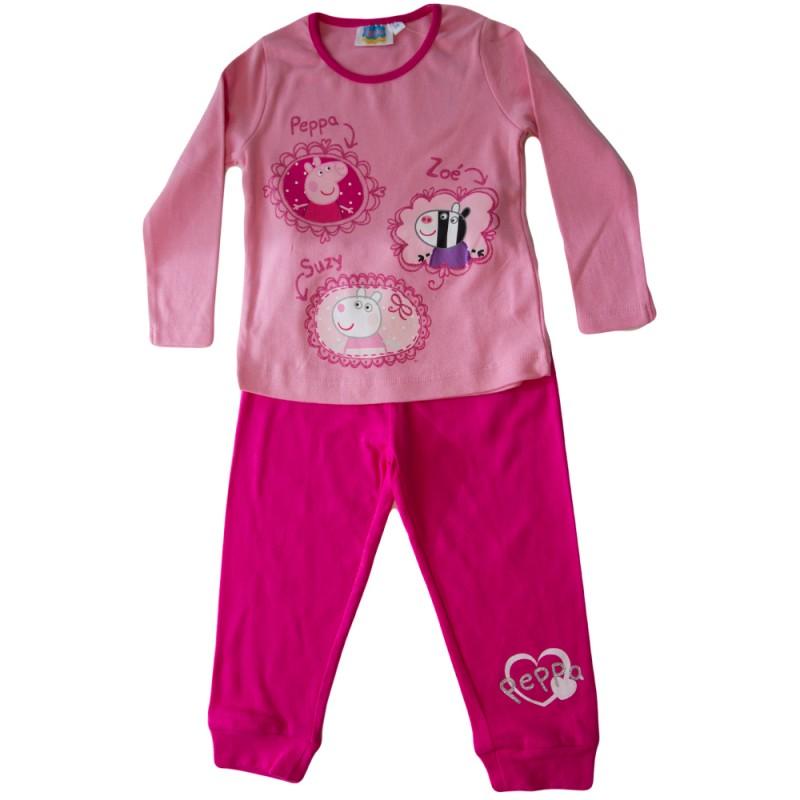 Pijamale fete Peppa roz, marimi 3,7,8 ani