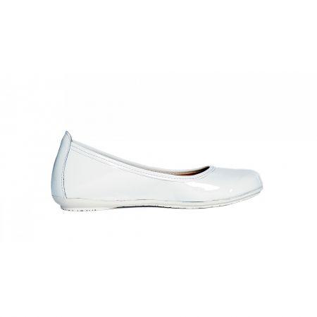 Balerini piele Lara alb pj shoes 27-36
