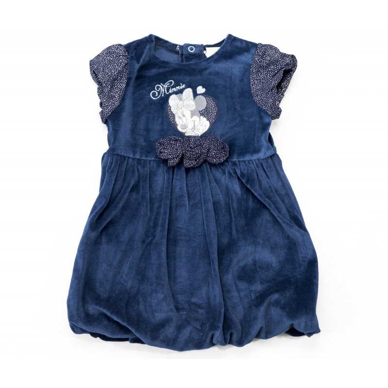 Rochita Minnie albastru, marimi 6-23 luni