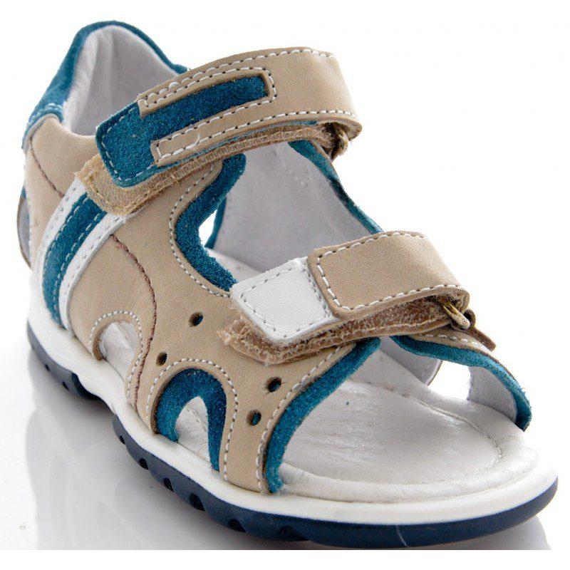 Sandale copii bej blu, marimea 24
