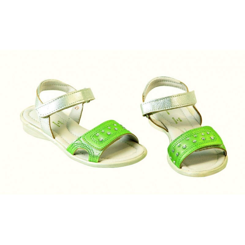 Sandale fete piele Anna verde, marimea 34