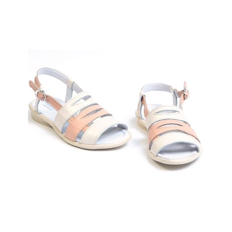Sandale fete piele VERA bej, marimi 27-33