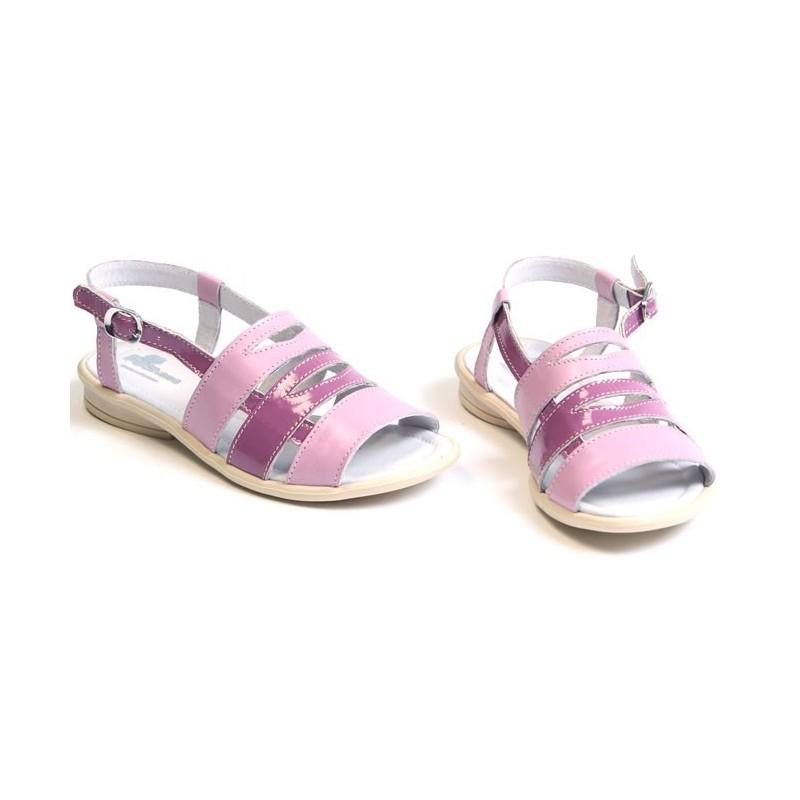 Sandale fete piele VERA lila, marimi 28,31,32