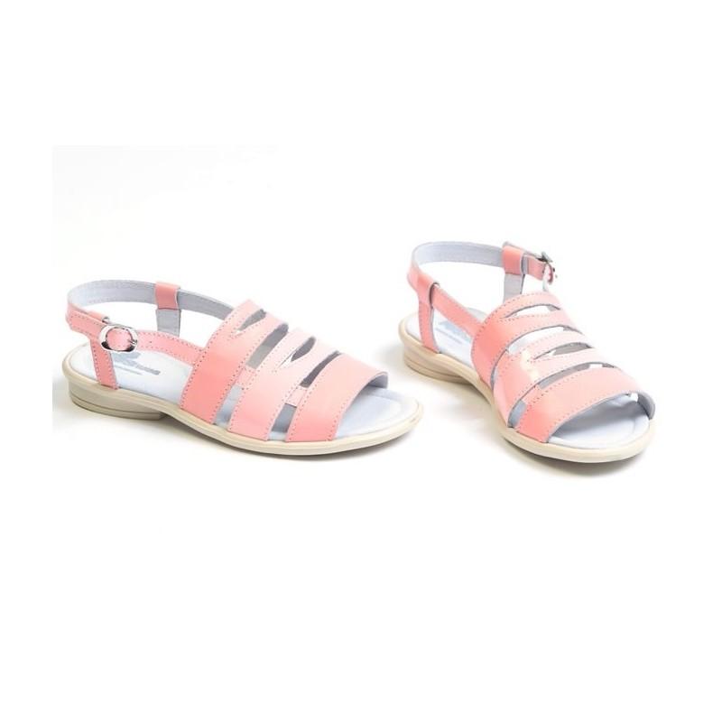 Sandale fete piele VERA roz, marimi 27,33