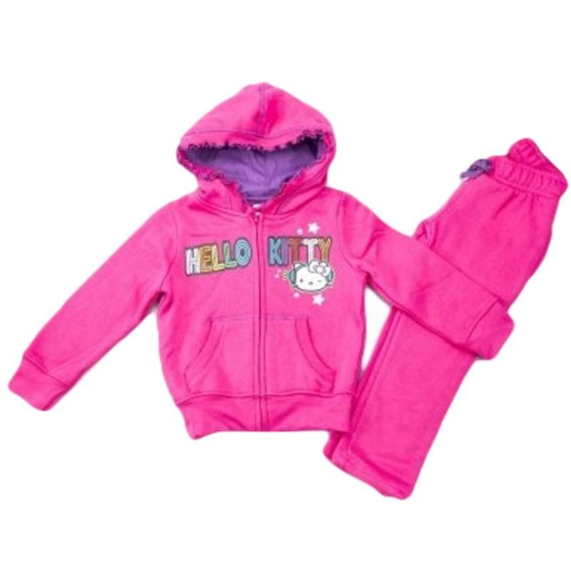 Trening fete Hello Kitty roz, marimi 3-8 ani