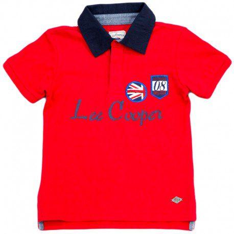 Tricou baieti Lee Cooper rosu 6 ani