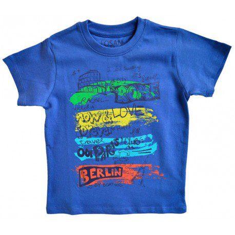 Tricou baieti Losan albastru, marimi 5,6,7 ani
