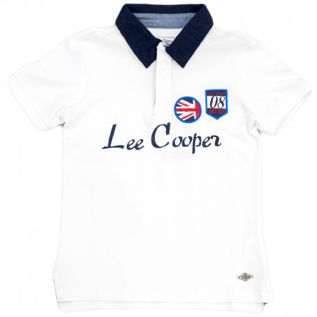 Tricou  baieti Lee Cooper alb, marime 8 ani