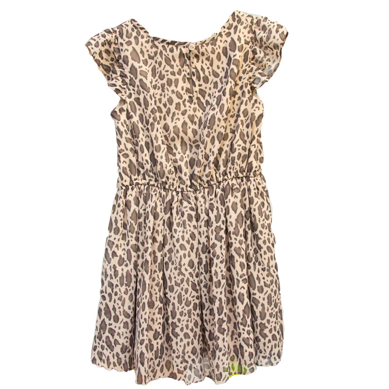 Rochita fete animal print maro 5-12 ani