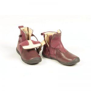 Cizme copii piele Norma bordo Pj Shoes 24-32