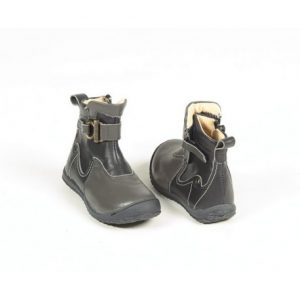 Cizme copii piele Norma gri Pj Shoes 24-36