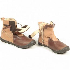 Cizme copii piele Norma maro Pj Shoes 24-36
