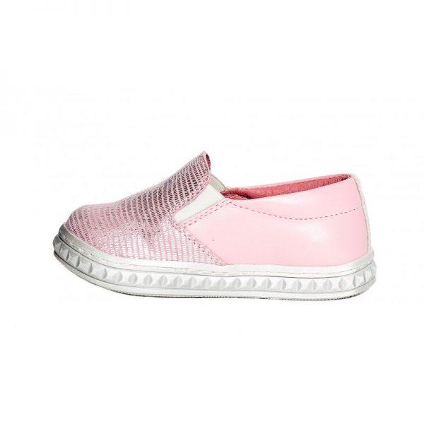 Mocasini copii piele Tar roz mix Pj Shoes 20-26