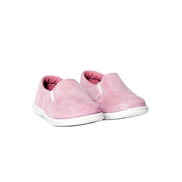 Mocasini copii piele Tar roz Pj Shoes 20-26