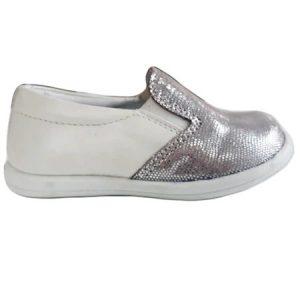 Mocasini copii piele Tar argintiu Pj Shoes