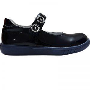Pantofi fete piele Tino bleumarin 30-35