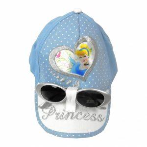 Sapca fete bleu Princess cu ochelari de soare