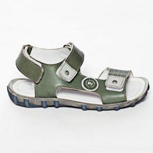 Sandale copii din piele naturala Roy verde 27