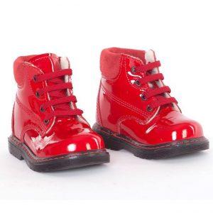 Ghetute copii piele Luca rosu Pj Shoes, marimea 20
