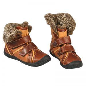 Ghete fete piele Julia Pj Shoes maro
