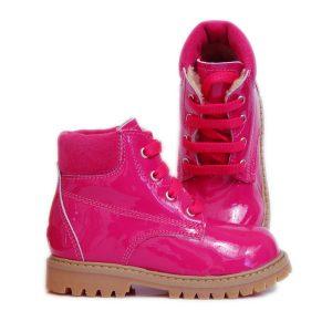Ghetute copii piele Luca fuxia Pj Shoes