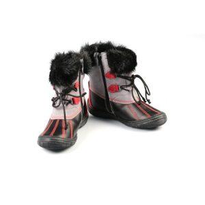 Ghete copii piele Romy negru Pj Shoes