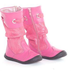 Cizme copii piele Lucia fuxia Pj Shoes, marimea 27