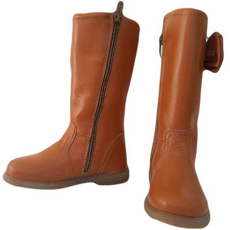 Cizme copii piele Ada camel Pj Shoes