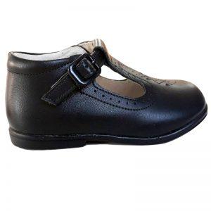 Pantofiori copii bleumarin din piele naturala 19-24