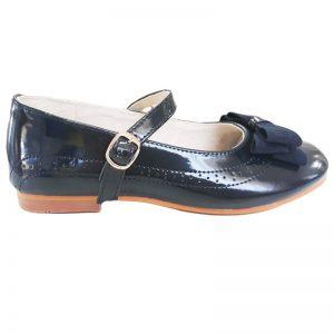 Pantofi fete din piele naturala bleumarin 30-35