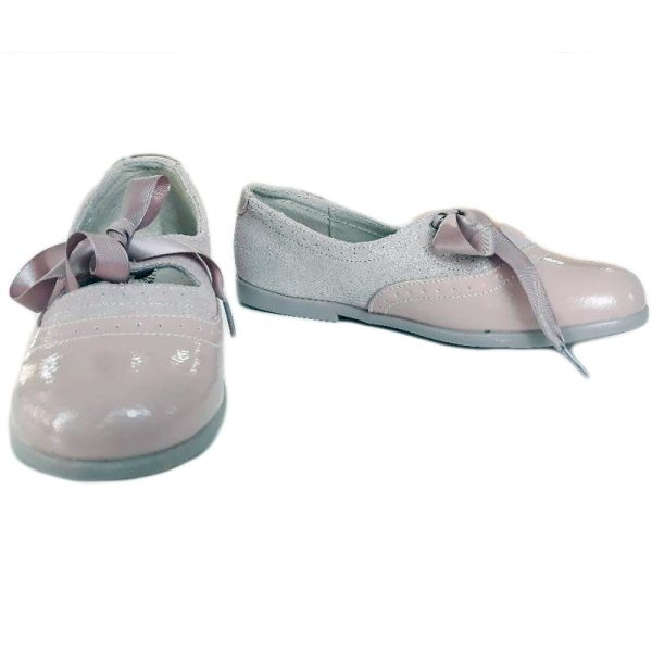 Pantofi copii roz nud din piele naturala 24-32