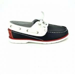Pantofi copii din piele naturala alb bleumarin 32-37