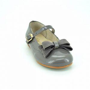 Pantofi fete din piele naturala gri 30-35