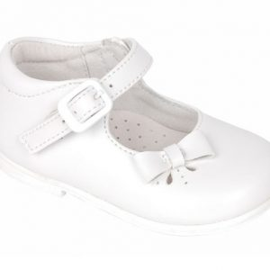 Pantofiori fetite albi din piele naturala 19-24