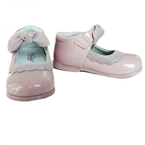 Pantofiori copii roz din piele naturala 19-24