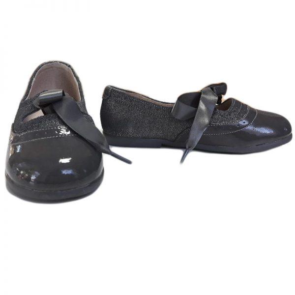 Pantofi fete din piele naturala gri 24-32