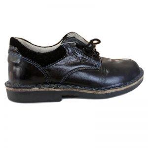 Pantofi negri Tino din piele naturala 30-35