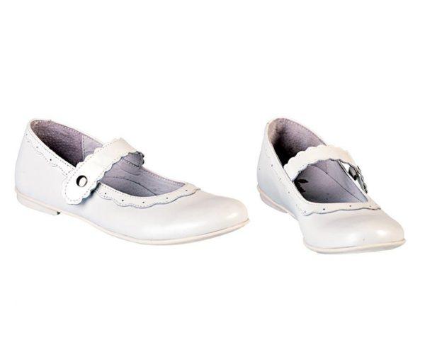 Pantofi albi fete Lola din piele naturala 31-36