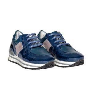 Pantofi Like din piele naturala blu 31-35