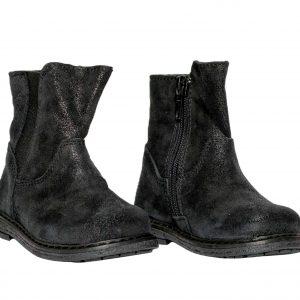 Cizmulite copii piele Leyla negru Pj Shoes