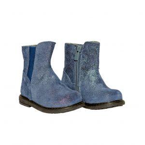 Cizmulite copii piele Leyla blu Pj Shoes