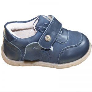 Pantofi copii din piele naturala bleumarin 19-24