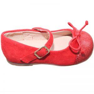 Pantofiori copii cu fundita rosii 20-26