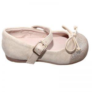 Pantofiori copii cu fundita auriu 20-26