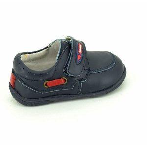 Pantofiori copii din piele naturala bleumarin 19-24