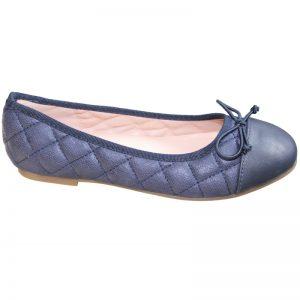 Pantofi fete cu fundita bleumarin 32-38