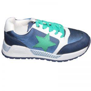 Pantofi sport copii alb bleumarin 30-38